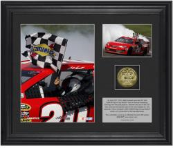 Matt Kenseth 2013 STP 400 Race Winner Framed 2-Photo Collage with Gold-Plated Coin-Limited Edition of 320 - Mounted Memories