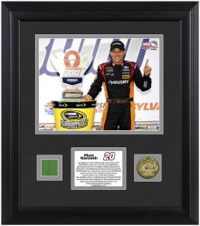 Matt Kenseth 2013 Sylvania 300 Framed 8'' x 10'' Photograph with Coin & Race-Used Flag - Limited Edition of 120 - Mounted Memories