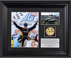 Matt Kenseth 2013 Sylvania 300 Race Winner Framed 2-Photograph Collage with Gold-Plated Coin - Limited Edition of 320 - Mounted Memories
