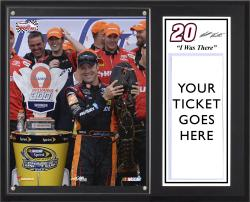 Matt Kenseth 2013 Sylvania 300 Sublimated 12'' x 15'' I Was There Plaque - Mounted Memories