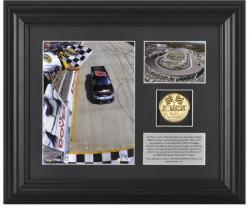 2011 Matt Kenseth FedEx 400 Winner Framed Photograph with Plate and Gold Coin - Limited Edition of 317 - Mounted Memories