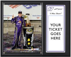 "Matt Kenseth 2011 Bank of America 500 Victory at Charlotte Motor Speedway Sublimated 12x15 ""I WAS THERE"" Ticket Plaque - Mounted Memories"