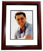 Matt LeBlanc Signed - Autographed FRIENDS 8x10 inch Photo MAHOGANY CUSTOM FRAME - Guaranteed to pass PSA or JSA