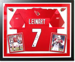 Matt Leinart Arizona Cardinals Deluxe Framed Autographed Jersey - Mounted Memories
