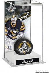 Matt Murray Pittsburgh Penguins 2016 Stanley Cup Champions Logo Deluxe Puck Case
