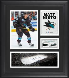 """Matt Nieto San Jose Sharks Framed 15"""" x 17"""" Collage with Piece of Game-Used Puck"""