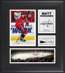 "Matt Niskanen Washington Capitals Framed 15"" x 17"" Collage with Piece of Game-Used Puck"