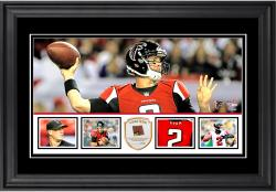 "Matt Ryan Atlanta Falcons Framed 10"" x 18""  Panoramic with Piece of Game-Used Football - Limited Edition of 250"