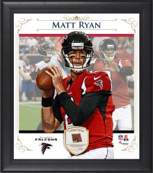 "Matt Ryan Atlanta Falcons Framed 15"" x 17"" Composite Collage with Piece of Game-Used Football"