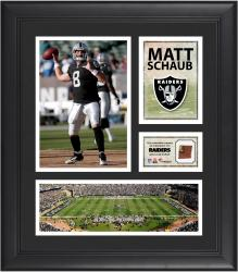 Matt Schaub Oakland Raiders Framed 15'' x 17'' Collage with Game-Used Football
