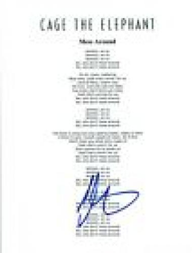 Matt Shultz Signed Autographed Cage The Elephant MESS AROUND Lyric Sheet COA