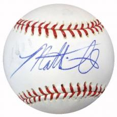 Matt Smith Authentic Autographed Signed MLB Baseball Phillies, Yankees PSA/DNA