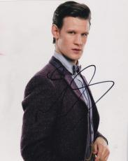 Matt Smith Doctor Who Signed 8x10 Photo Authentic Autograph Bbc Coa C