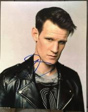 Matt Smith Doctor Who Signed Autograph Sexy Leather Jacket 8x10 Photo Coa Dr.