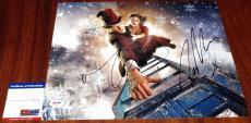 Autographed Matt Smith Photo - & Jenna Coleman 11x14 Doctor Who Clara PSA DNA