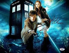 Matt Smith & Karen Gillan Signed Dr.Who Autographed 11x14 Photo PSA/DNA #AA76989
