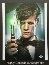 Matt Smith Signed 11x14 Photo Autograph Psa Dna Coa Doctor Who The Aa68885