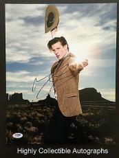 Matt Smith Signed 11x14 Photo Autograph Psa Dna Coa Doctor Who The Aa68886