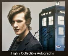 Matt Smith Signed 11x14 Photo Autograph Psa Dna Coa Doctor Who The Aa76916