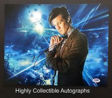 Matt Smith Signed 11x14 Photo Autograph Psa Dna Coa Doctor Who The Aa76917