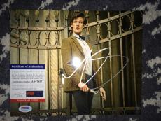 Matt Smith Signed 8x10 Photo COA Doctor Who PSA/DNA