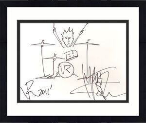Matt Sorum Signed 11x14 Hand Drawn Original Sketch PSA/DNA COA Velvet Revolver