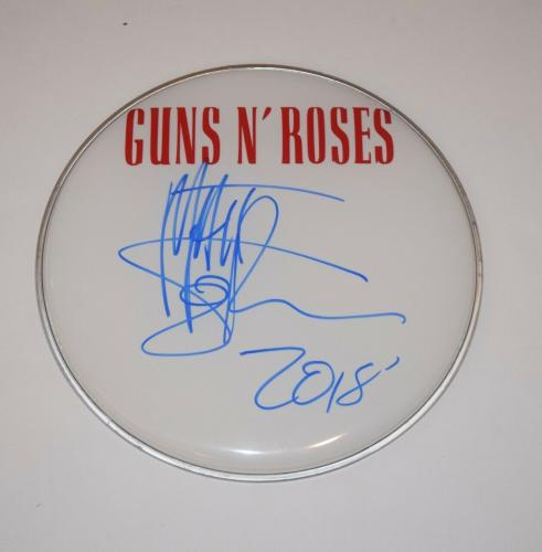 "Matt Sorum Signed Autographed 12"" Drumhead GUNS N ROSES Drummer COA"