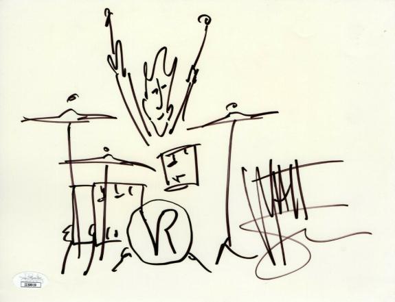 Matt Sorum Signed Autographed 8.5X11 Sketch Drawing Velvet Revolver JSA II59919