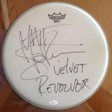 "MATT SORUM (Velvet Revolver) signed 14"" Remo Drum Head-JSA #L93581"