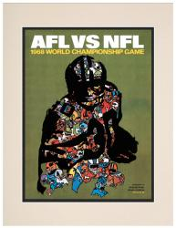 "1968 Packers vs Raiders 10.5"" x 14"" Matted Framed Super Bowl II Program"