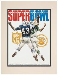 "1969 Jets vs Colts 10.5"" x 14"" Matted Framed Super Bowl III Program"
