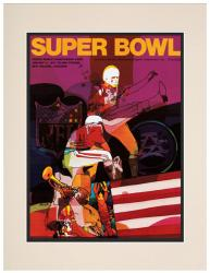 "1970 Chiefs vs Vikings 10.5"" x 14"" Matted Framed Super Bowl IV Program"