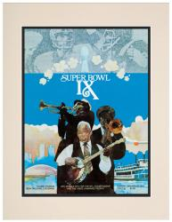 "1975 Steelers vs Vikings 10.5"" x 14"" Matted Super Bowl IX Program"