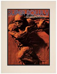 "1971 Colts vs Cowboys  10.5"" x 14"" Matted Super Bowl V Program"