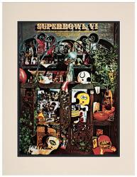 "1972 Cowboys vs Dolphins 10.5"" x 14"" Matted Super Bowl VI Program"
