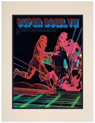 """1973 Dolphins vs Redskins 10.5"""" x 14"""" Matted Super Bowl VII Program"""
