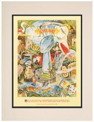 "1984 Raiders vs Redskins 10.5"" x 14"" Matted Super Bowl XVIII Program"
