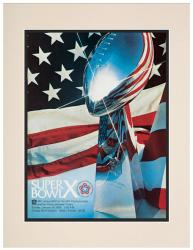 "1976 Steelers vs Cowboys 10.5"" x 14"" Matted Super Bowl X Program - Mounted Memories"