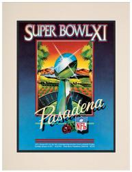 "1977 Raiders vs Vikings 10.5"" x 14"" Matted Super Bowl XI Program"