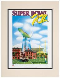 "1978 Cowboys vs Broncos 10.5"" x 14"" Matted Super Bowl XII Program"