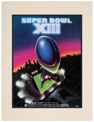 "1979 Steelers vs Cowboys 10.5"" x 14"" Matted Super Bowl XIII Program"