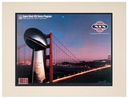 "1985 49ers vs Dolphins 10.5"" x 14"" Matted Super Bowl XIX Program"
