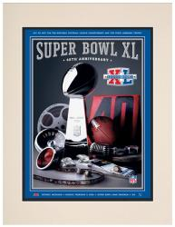 "2006 Steelers vs Seahawks 10.5"" x 14"" Matted Super Bowl XL Program"