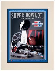 "2006 Steelers vs Seahawks 10.5"" x 14"" Matted Super Bowl XL Program"