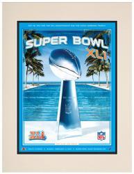 "2007 Colts vs Bears 10.5"" x 14"" Matted Super Bowl XLI Program"