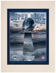 "2009 Steelers vs Cardinals 10.5"" x 14"" Matted Super Bowl XLIII Program"