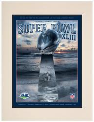 "2009 Steelers vs Cardinals 10.5"" x 14"" Matted Super Bowl XLIII Program"