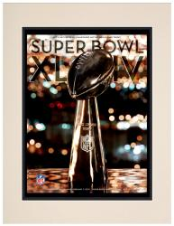 "2010 Saints vs Colts 10.5"" x 14"" Matted Super Bowl XLIV Program"