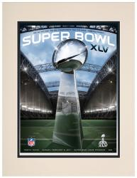 "2011 Packers vs Steelers 10.5"" x 14"" Matted Super Bowl XLV Program"
