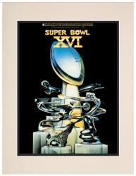 """1982 49ers vs Bengals 10.5"""" x 14"""" Matted Super Bowl XVI Program"""